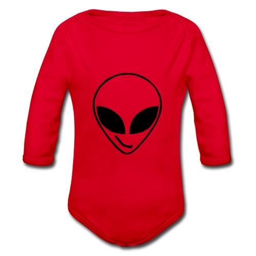 Alien simple Mask - Organic Longsleeve Baby Bodysuit