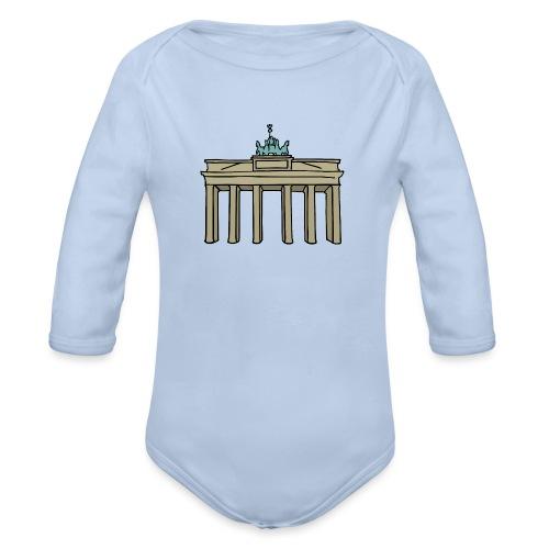 Brama Brandenburska BERLIN c - Ekologiczne body niemowlęce z długim rękawem