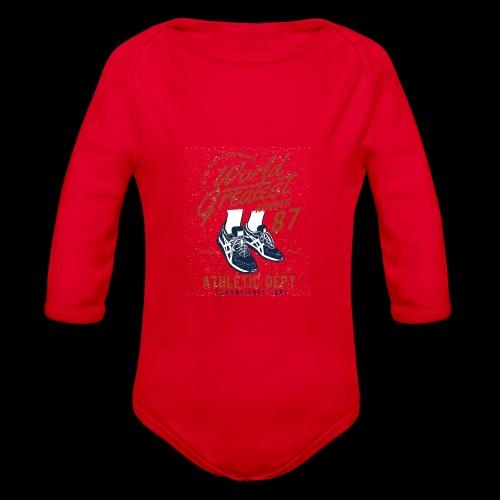 World Greatest Runner - Baby Bio-Langarm-Body