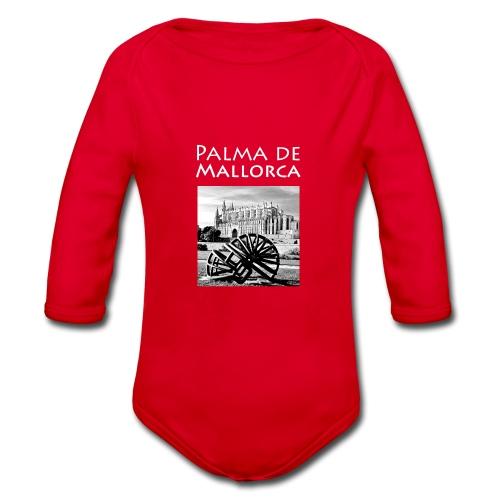Palma de Mallorca mit Cathedrale Heiligen Maria - Baby Bio-Langarm-Body