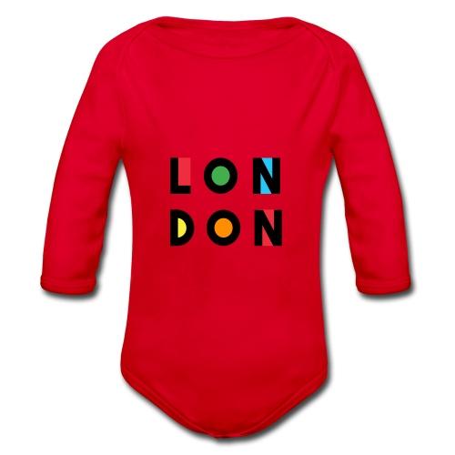 Vintage London Souvenir - Retro Modern Art London - Baby Bio-Langarm-Body