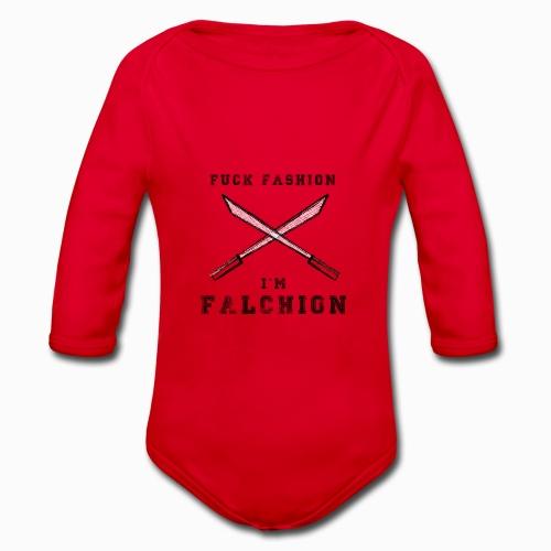 Fuck Fashion I m Falchion - Body Bébé bio manches longues