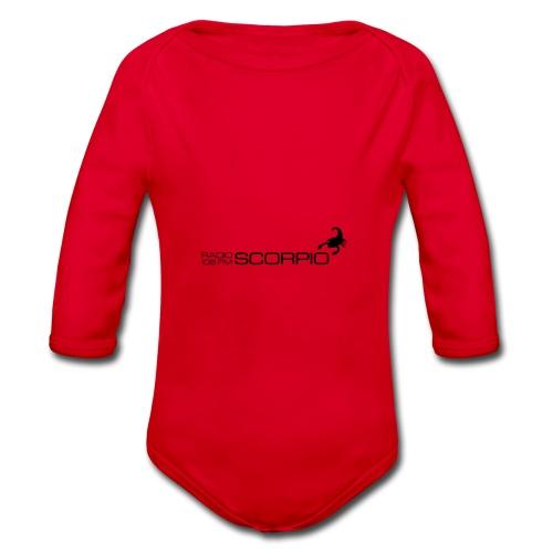 scorpio logo - Baby bio-rompertje met lange mouwen
