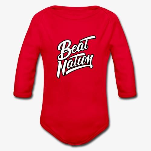 Logo Officiel Beat Nation Blanc - Baby Bio-Langarm-Body