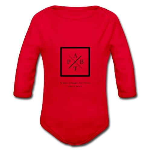Transparent - Organic Longsleeve Baby Bodysuit