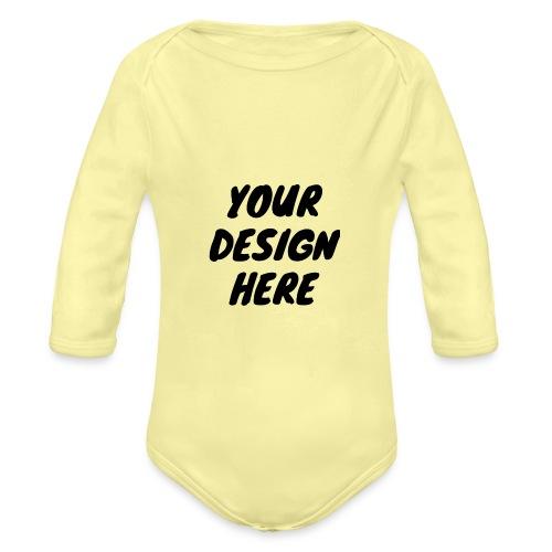 print file front 9 - Organic Longsleeve Baby Bodysuit