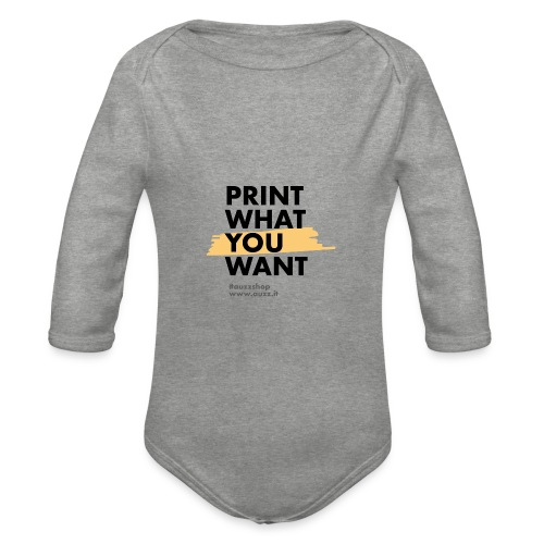 Print what you want - Body ecologico per neonato a manica lunga
