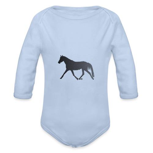 Streifen Pferd - Baby Bio-Langarm-Body