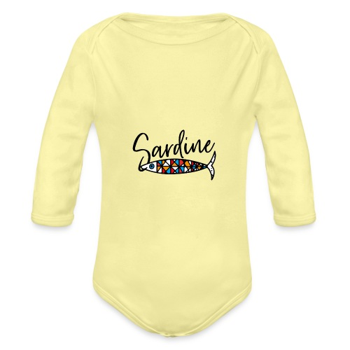 Sardine colorate all'amo - Body ecologico per neonato a manica lunga