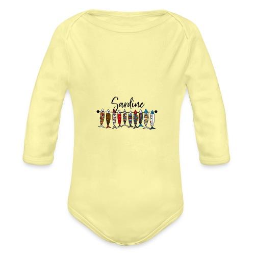Sardine colorate - Body ecologico per neonato a manica lunga