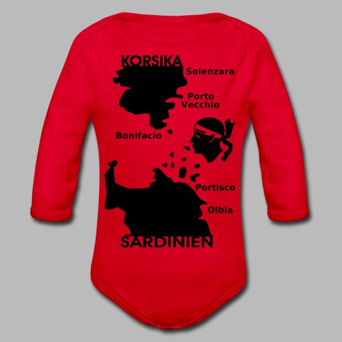 Korsika Sardinien Mori - Baby Bio-Langarm-Body