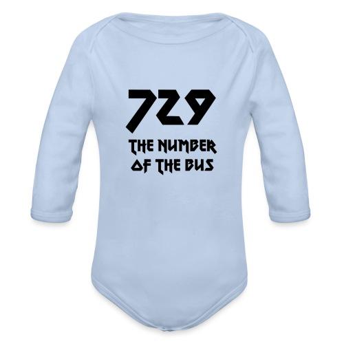 729 grande nero - Body ecologico per neonato a manica lunga