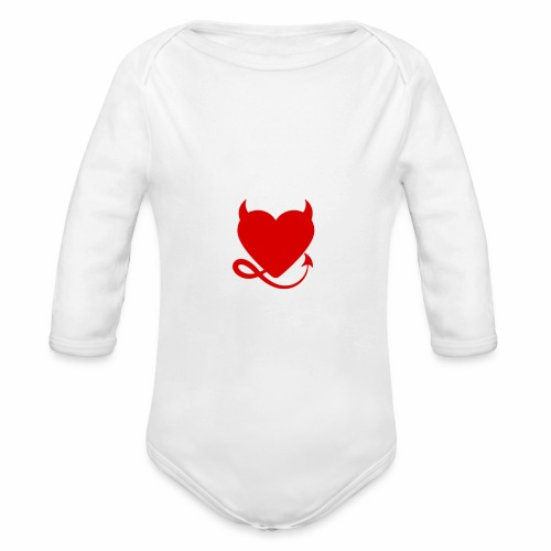 diablita - Body orgánico de manga larga para bebé