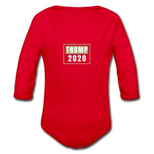 TRUMP 2020 - Ekologiczne body niemowlęce z długim rękawem