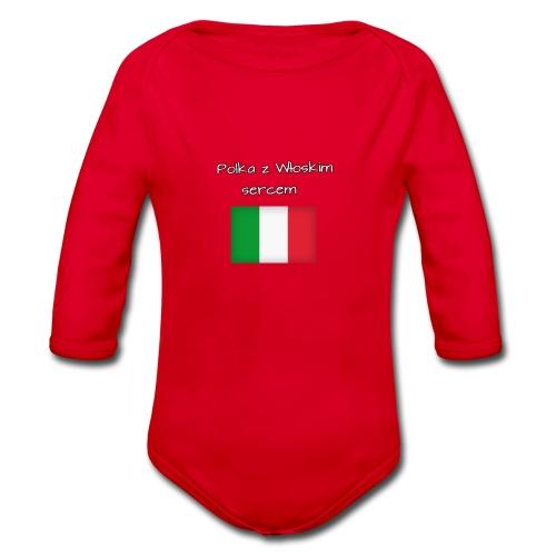 Włosko-polska - Ekologiczne body niemowlęce z długim rękawem