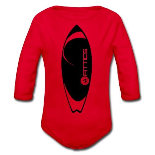surf board fittics - Organic Longsleeve Baby Bodysuit