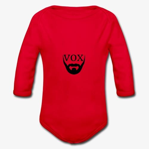 Logo Vox Nero - Body ecologico per neonato a manica lunga