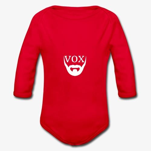 Logo Vox Bianco - Body ecologico per neonato a manica lunga