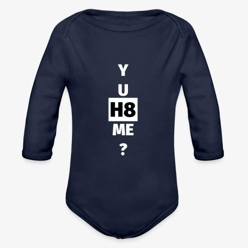 YU H8 ME bright - Organic Longsleeve Baby Bodysuit