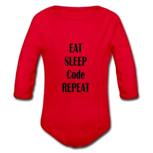 EAT SLEEP CODE REPEAT - Baby Bio-Langarm-Body