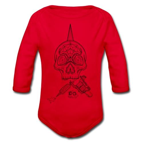 Skull tattoo - Body Bébé bio manches longues