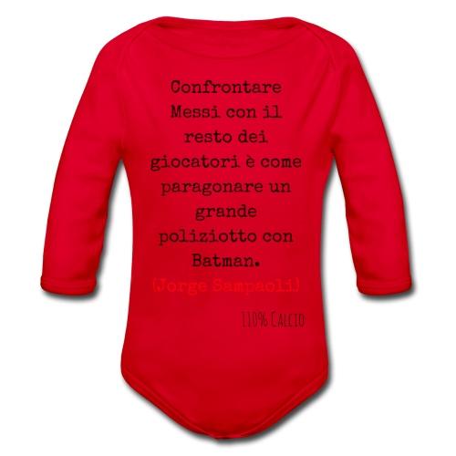 maglia 110 messi png - Body ecologico per neonato a manica lunga