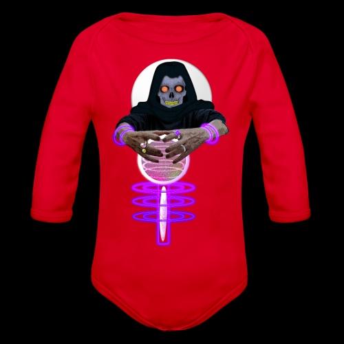 Le squelette et la boule de cristal Halloween - Body Bébé bio manches longues