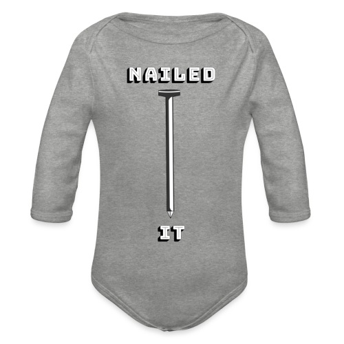 Nailed it - Langærmet babybody, økologisk bomuld