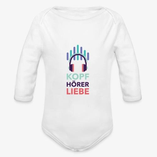 kopfhoererliebe bunt - Baby Bio-Langarm-Body