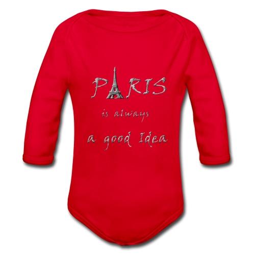 Paris is always a good idea - Baby Bio-Langarm-Body