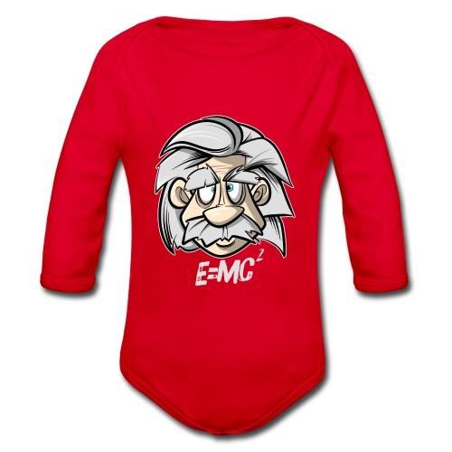 Albert Einstein E=MC2 - Baby Bio-Langarm-Body