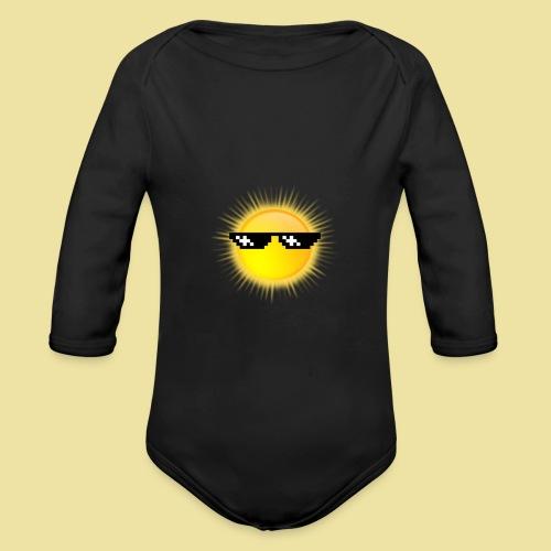 coole Sonne mit Sonnenbrille - Baby Bio-Langarm-Body