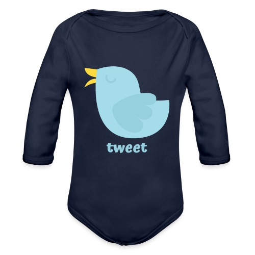 tweet - Langærmet babybody, økologisk bomuld