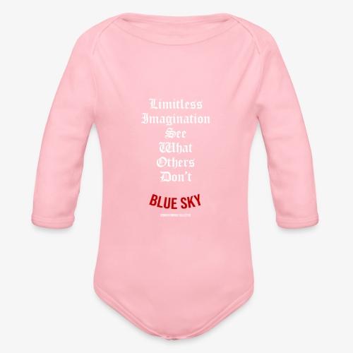 Limitless Imagination Wit - Baby bio-rompertje met lange mouwen