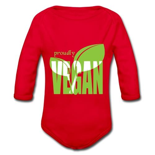 proudly vegan - Baby Bio-Langarm-Body