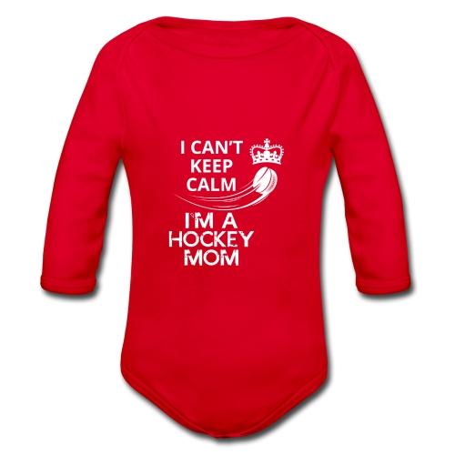 Keep Calm I´m a Hockey Mom - Baby Bio-Langarm-Body