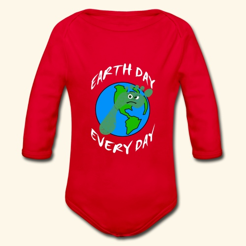 Earth Day Every Day - Baby Bio-Langarm-Body