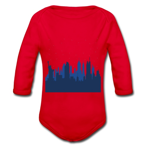 Manhattan Skyline - Body Bébé bio manches longues