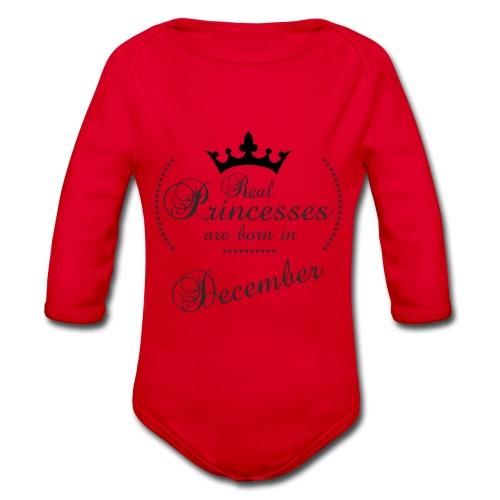 Real Princesses black December - Baby Bio-Langarm-Body