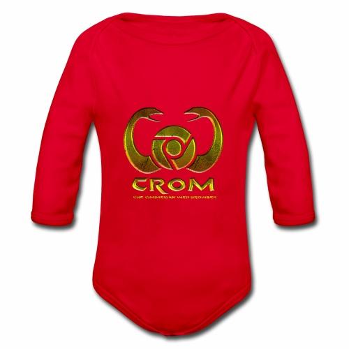 crom - Navegador web - Body orgánico de manga larga para bebé