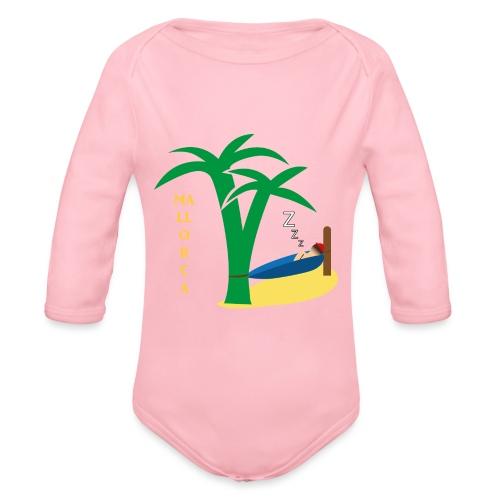Mallorca - Urlaub unter Palmen - Baby Bio-Langarm-Body