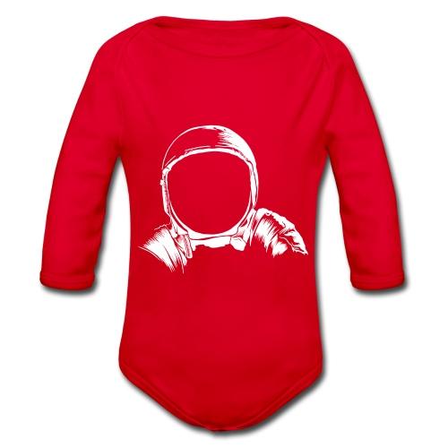 Astronauten Helm - Baby Bio-Langarm-Body