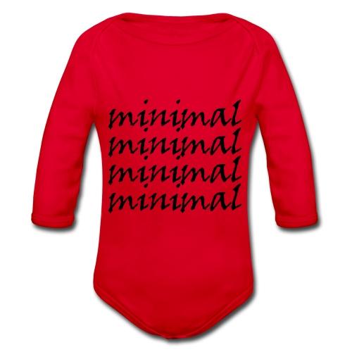 Minimal Design - Baby Bio-Langarm-Body