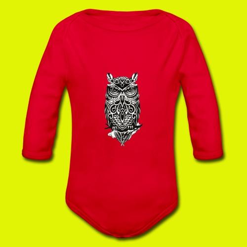 maglietta gufo - Body ecologico per neonato a manica lunga
