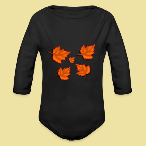 Herbstblätter - Baby Bio-Langarm-Body