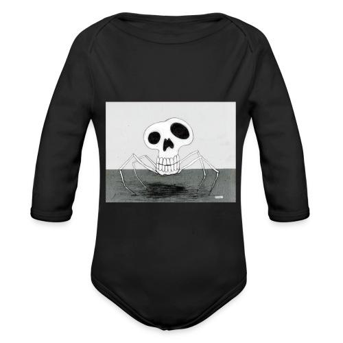 skull spider - Ekologisk långärmad babybody