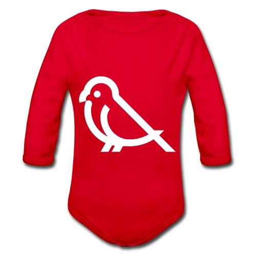 bird weiss - Baby Bio-Langarm-Body