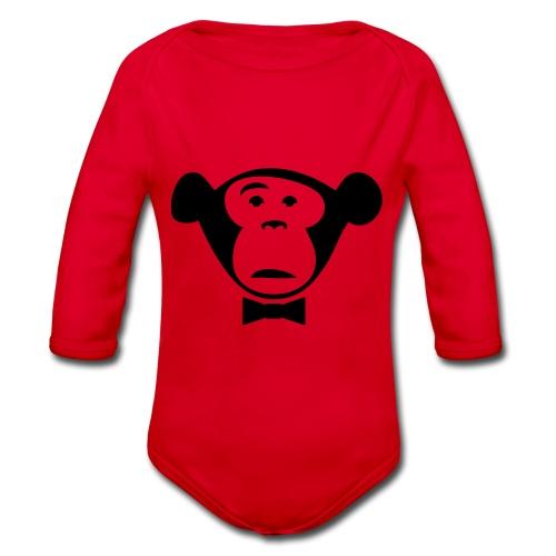 Monkey Media Official Logo - Baby Bio-Langarm-Body