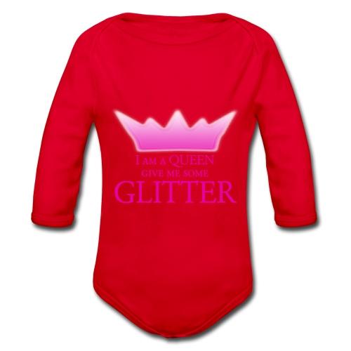 Glitter Queen - Baby Bio-Langarm-Body