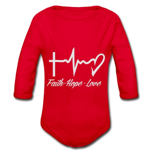 FAITH HOPE LOVE - Organic Longsleeve Baby Bodysuit
